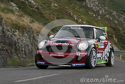 Jose Alonso Mini Rally Principe Asturias Editorial Stock Image