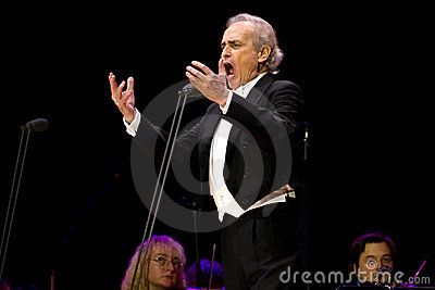 Jose Carreras in Zagreb Editorial Photography