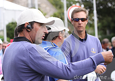 Jose Maria Olazabal at the Seve Trophy 2013 Editorial Photography