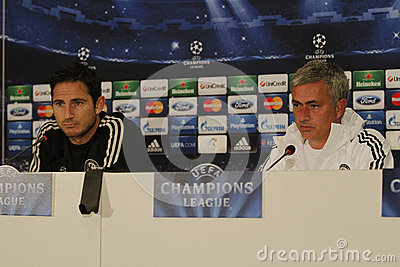 Jose Mourinho and Frank Lampard Editorial Stock Photo
