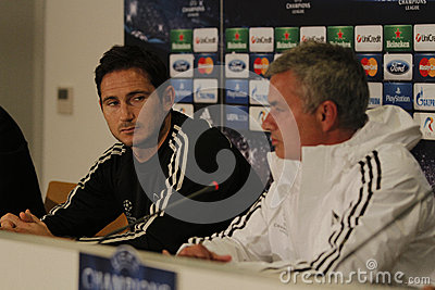 Jose Mourinho and Frank Lampard Editorial Photography