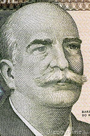 Jose Paranhos, барон Рио Branco Редакционное Стоковое Изображение