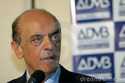 Jose Serra, candidate to president of brazil Editorial Photo