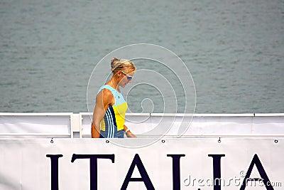 Josefa Idem, Italian champion Editorial Image
