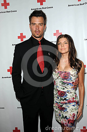 Josh Duhamel,Stacy Ferguson Editorial Image
