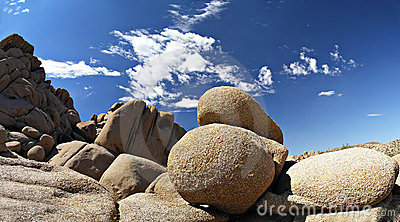 Joshua tree rock formations