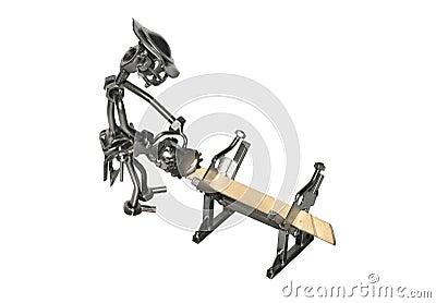 Jouet de fer de charpentier