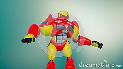 Jouet robotique en action illustration de vecteur