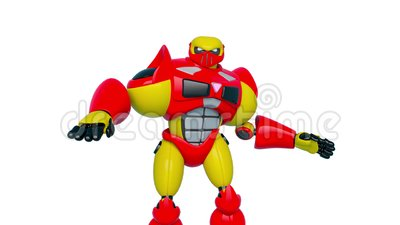 Jouet robotique en action illustration stock