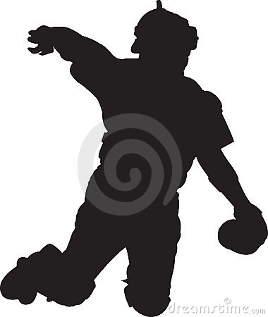 Joueur de baseball, attrapeur 01