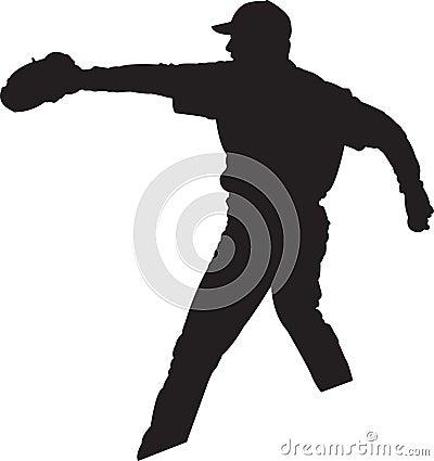 Joueur de baseball, pichet 01