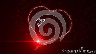 Jour de valentines heureux banque de vidéos