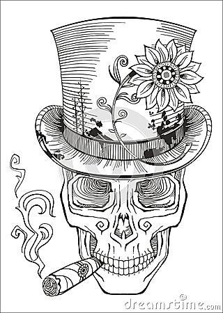 Jour Des Morts Dessin De Samedi De Baron Illustration De