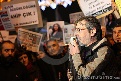 Journalist Protest Editorial Image