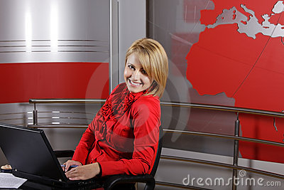 Journalist and television manager Editorial Stock Image