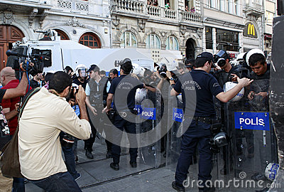 Journalists Protest in Istanbul Editorial Photography