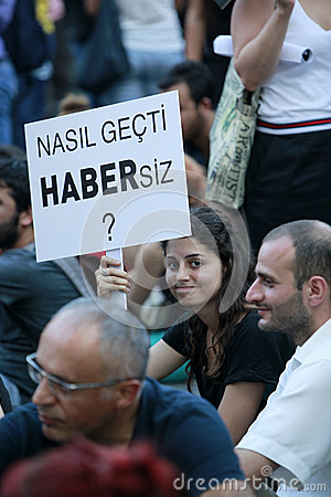 Journalists Protest in Istanbul Editorial Photo