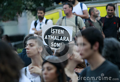 Journalists Protest in Istanbul Editorial Stock Photo
