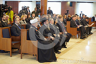 Journalists, religious and public figures Editorial Image