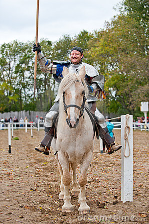 Jouster Jason Armstrong Editorial Photo