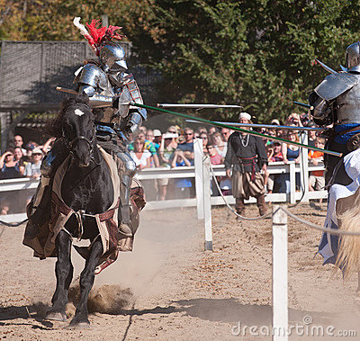 Jousters Shane Adams and Jason Armstrong Editorial Stock Photo