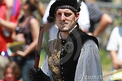 Jousting Announcer Editorial Stock Image
