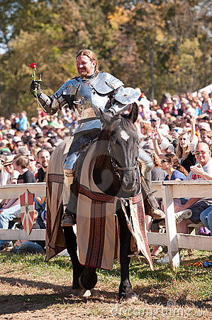 Jousting Champion Shane Adams Editorial Stock Photo
