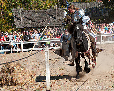 Jousting Champion Shane Adams Editorial Photography