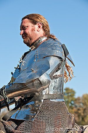 Jousting Champion Shane Adams Editorial Stock Image