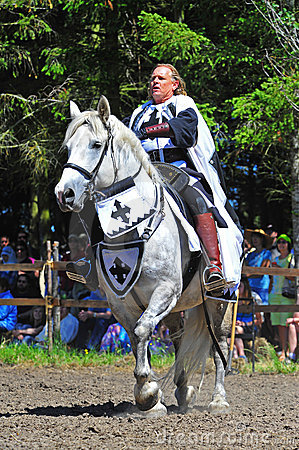 Jousting competition official Editorial Stock Photo