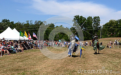 Jousting demonstration Editorial Stock Photo