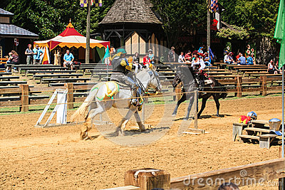 Jousting Demonstration Renaissance Festival MD Editorial Image