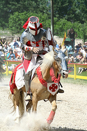 Jousting Knight Editorial Photography