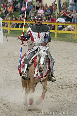 Jousting Knight Editorial Stock Photo