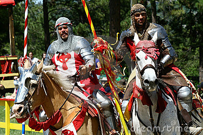 Jousting Knights Editorial Stock Image