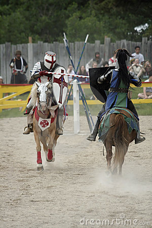 Jousting Knights Editorial Stock Photo