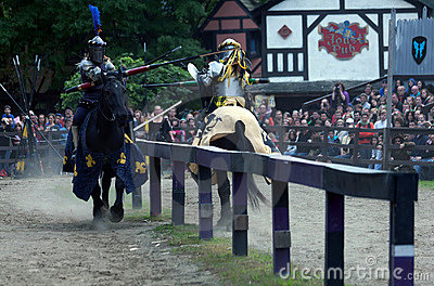 Jousting knights Editorial Photo