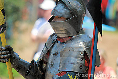 Jousting Rider Editorial Stock Photo