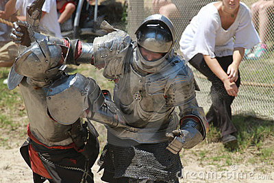 Jousting Riders Editorial Stock Photo
