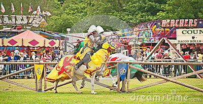 Jousting at Tain Gala Editorial Stock Image