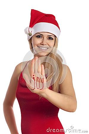 JOY - Beautiful santa gir