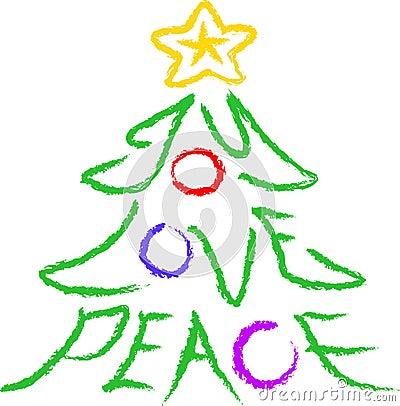 Free Joy-Love-Peace Tree Royalty Free Stock Photo - 597705