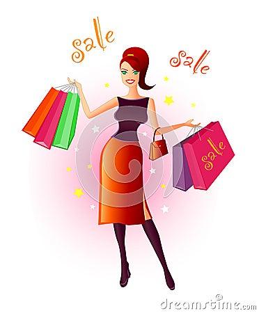 Free Joy Of Shopping Royalty Free Stock Photos - 341358