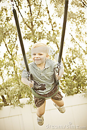 Free Joy On A Swing Stock Image - 19817951