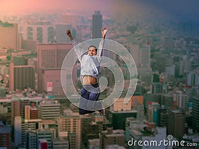 Joy over the big city