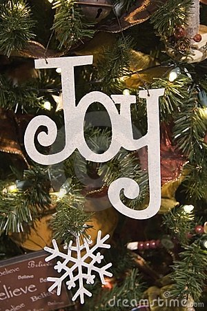 Joy and Snowflake Ornament