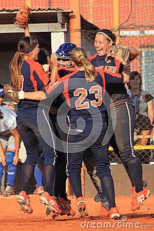 Joy in softball Editorial Photography