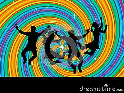 joy swirl represents happiness joyful y j venes stock de