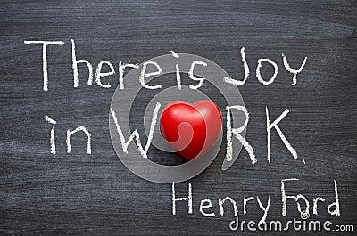 Joy in work