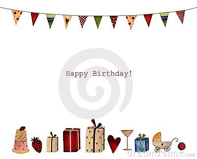 Joyeux anniversaire. Carte de voeux